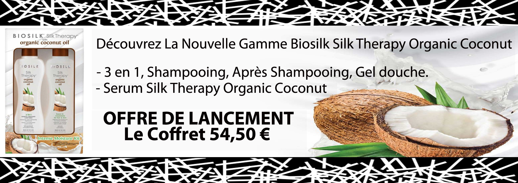 Biosilk Silk Therapy Cure soyeuse Organic Coconut Oil